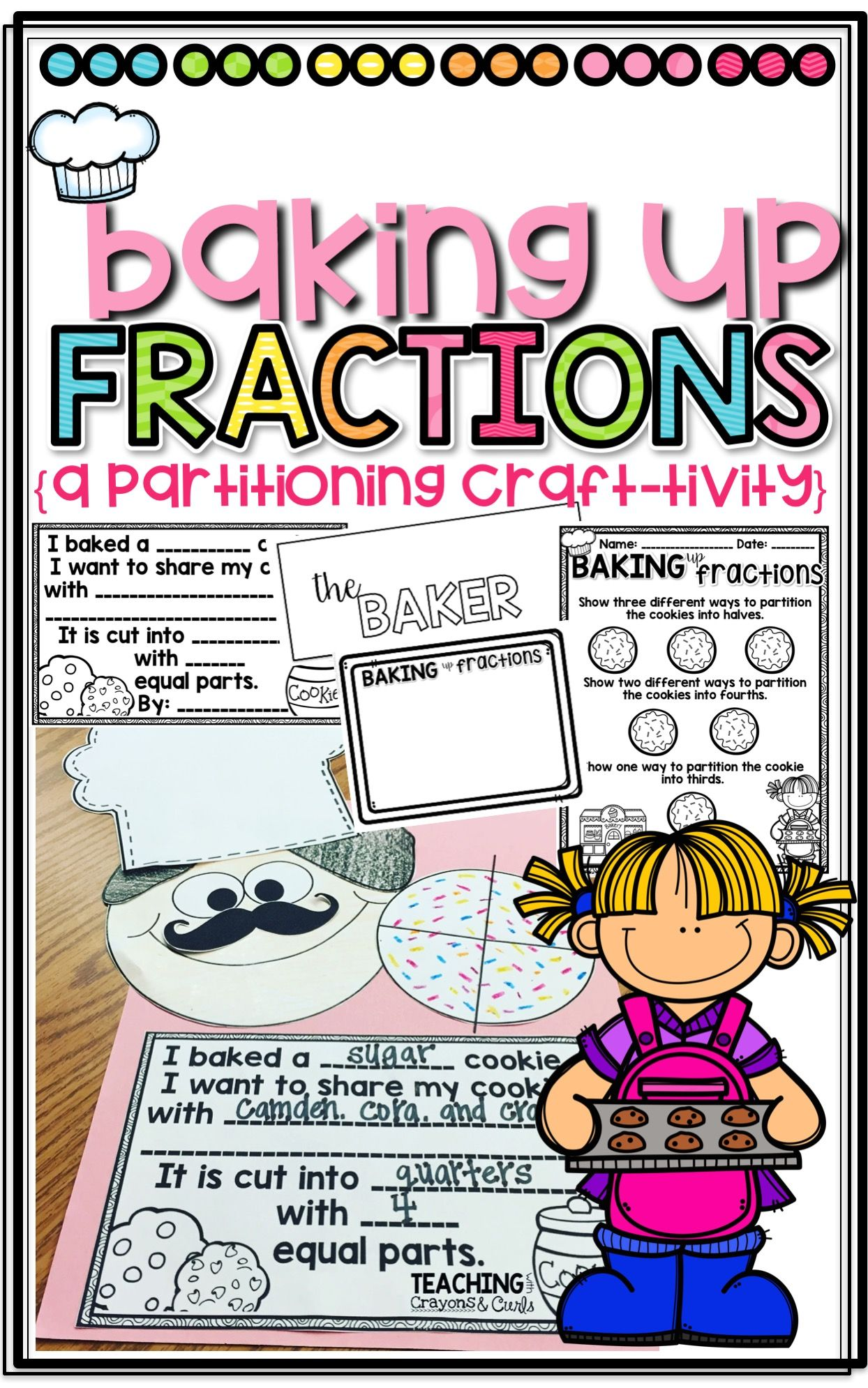 Baking Up Fractions A Partitioning Craftivity