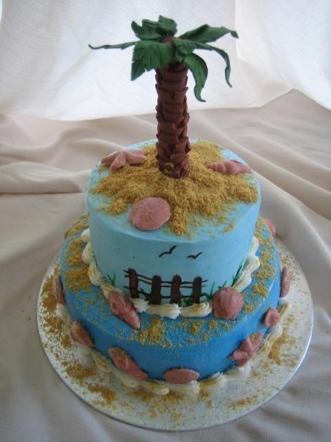 Sensational Palm Tree Cake Cake Decorating Courses Beach Cakes Hawaiian Birthday Cards Printable Trancafe Filternl