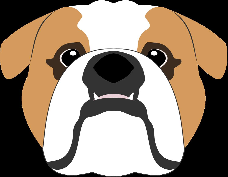 English Bulldog Vector English Bulldog Bulldog Dog Portraits Illustration