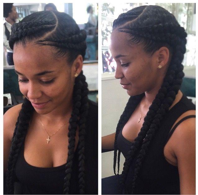 Double Goddess Braid Natural Hair Styles Fake Hair Hair