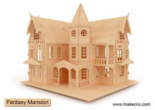 Fantasy Mansion Doll House Laser CNC Router Cutting Pattern