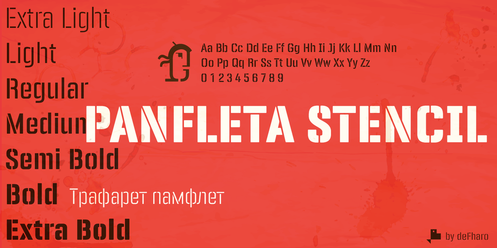 New free font 'Panfleta Stencil' by deFharo · Free for