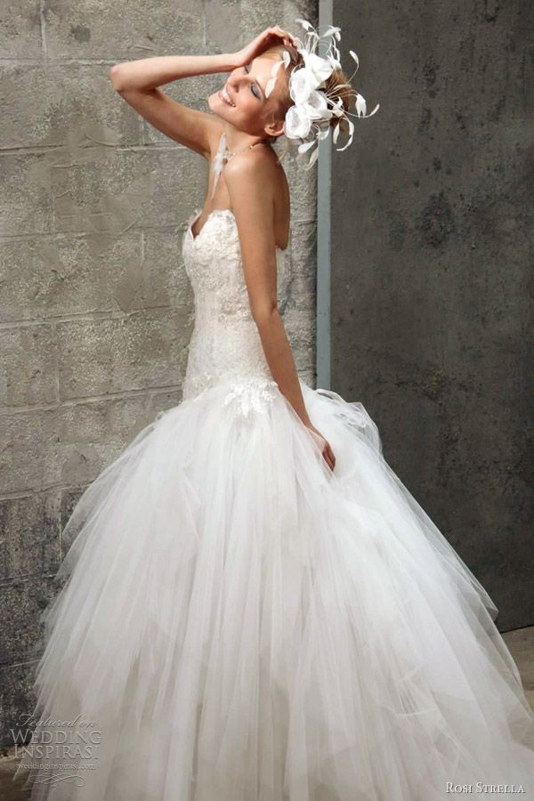 ball gown with sweetheart neckline by Rosi Strella