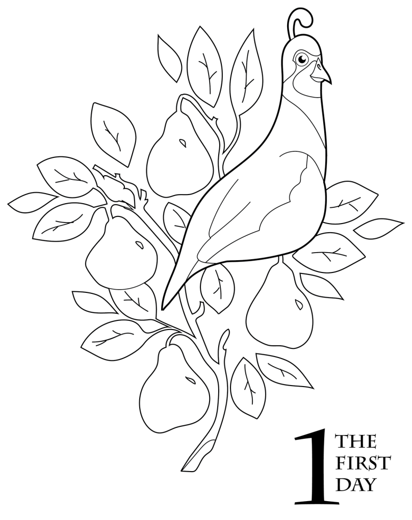 tree coloring pages with no leaves 01 Christmas tree