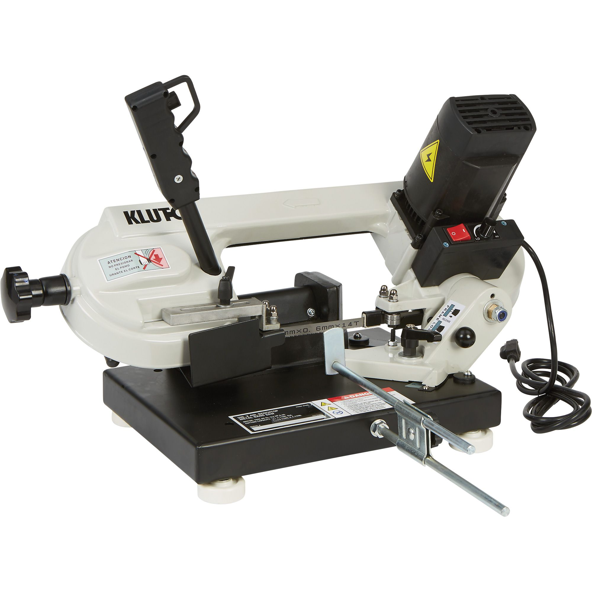 Klutch Benchtop Metal Band Saw 3in X 4in 1 1 X2f 3 Hp 120v Motor Band Saws Northern Tool Equipment Metal Band Saw Bandsaw Saws