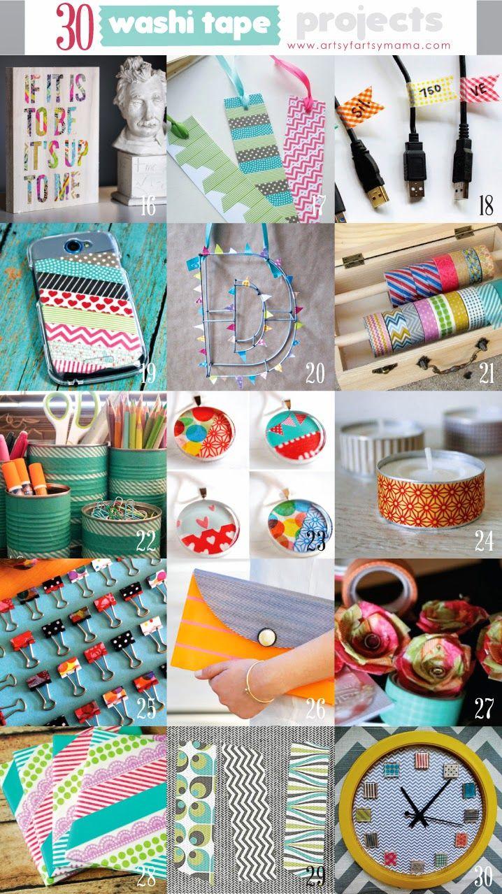 Ideas : 30 Washi Tape Projects artsyfartsymama.com #washi #washitapeprojects