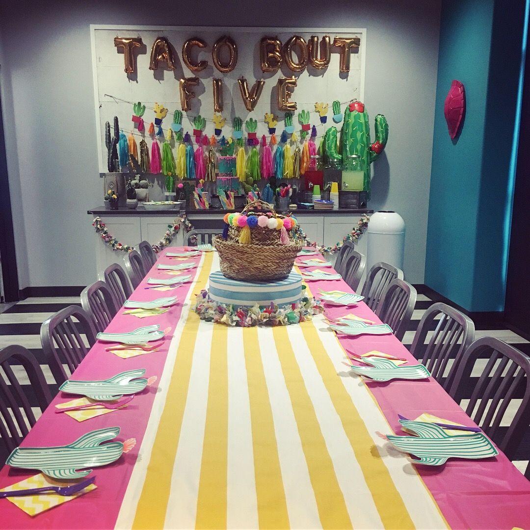 Fifth birthday party taco cactus party fiesta Fiesta