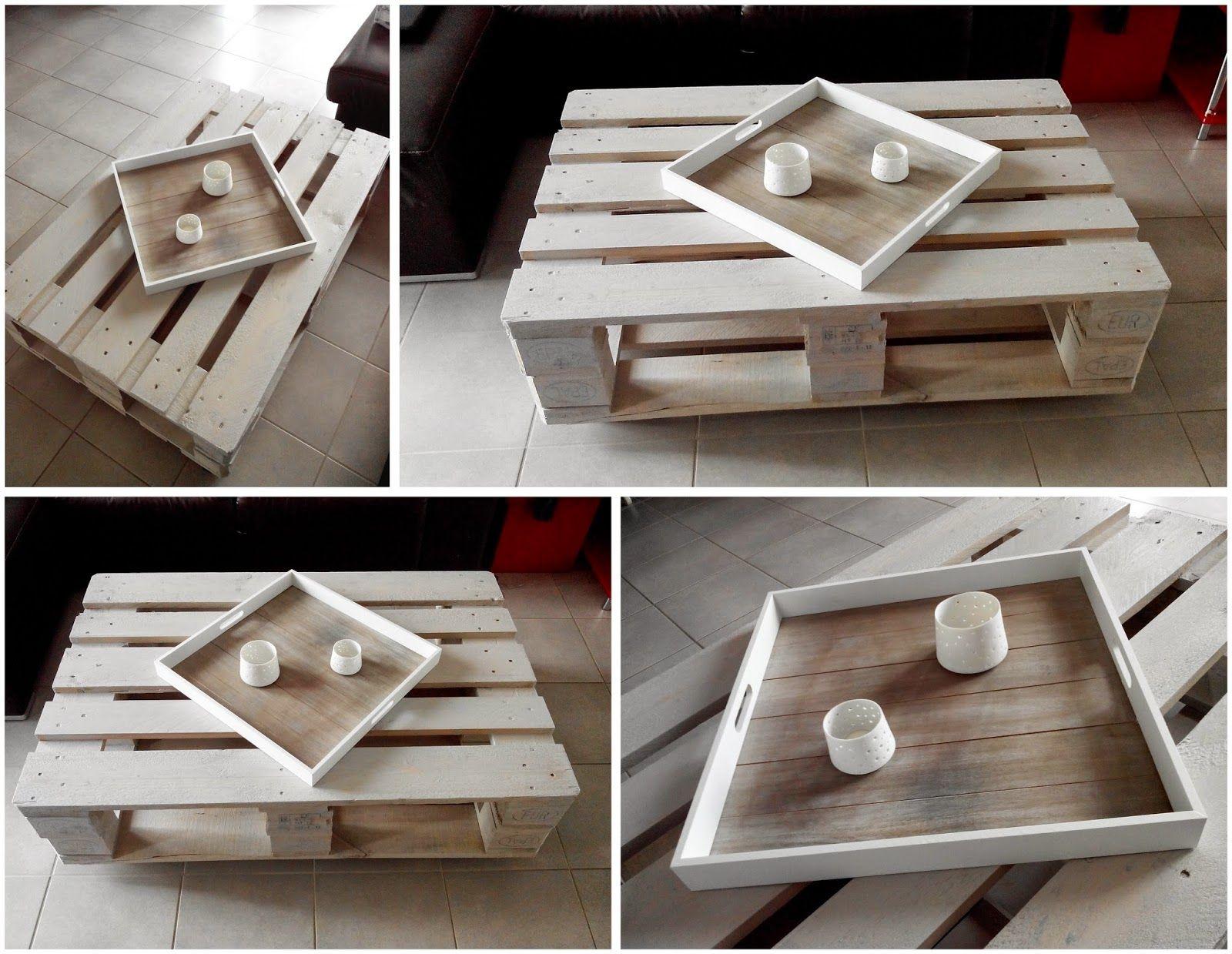 Palette, Table Basse, DIY, Lazure, Bricolage, Bullelodie Http://