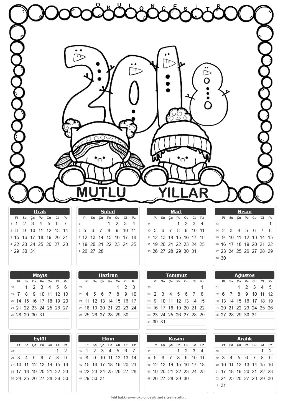 2018 Tek Sayfa Takvimleri Belirli Gün Ve Haftalar Schule