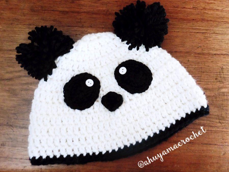 gorrito de oso panda a crochet panda bear hat | Gorros | Pinterest ...