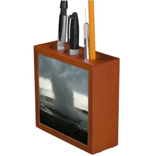 Geyser in Yellowstone Park Desk Organizer