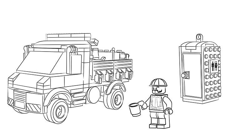Lego coloring sheet 60073 service truck lego coloring for Lego city coloring pages print