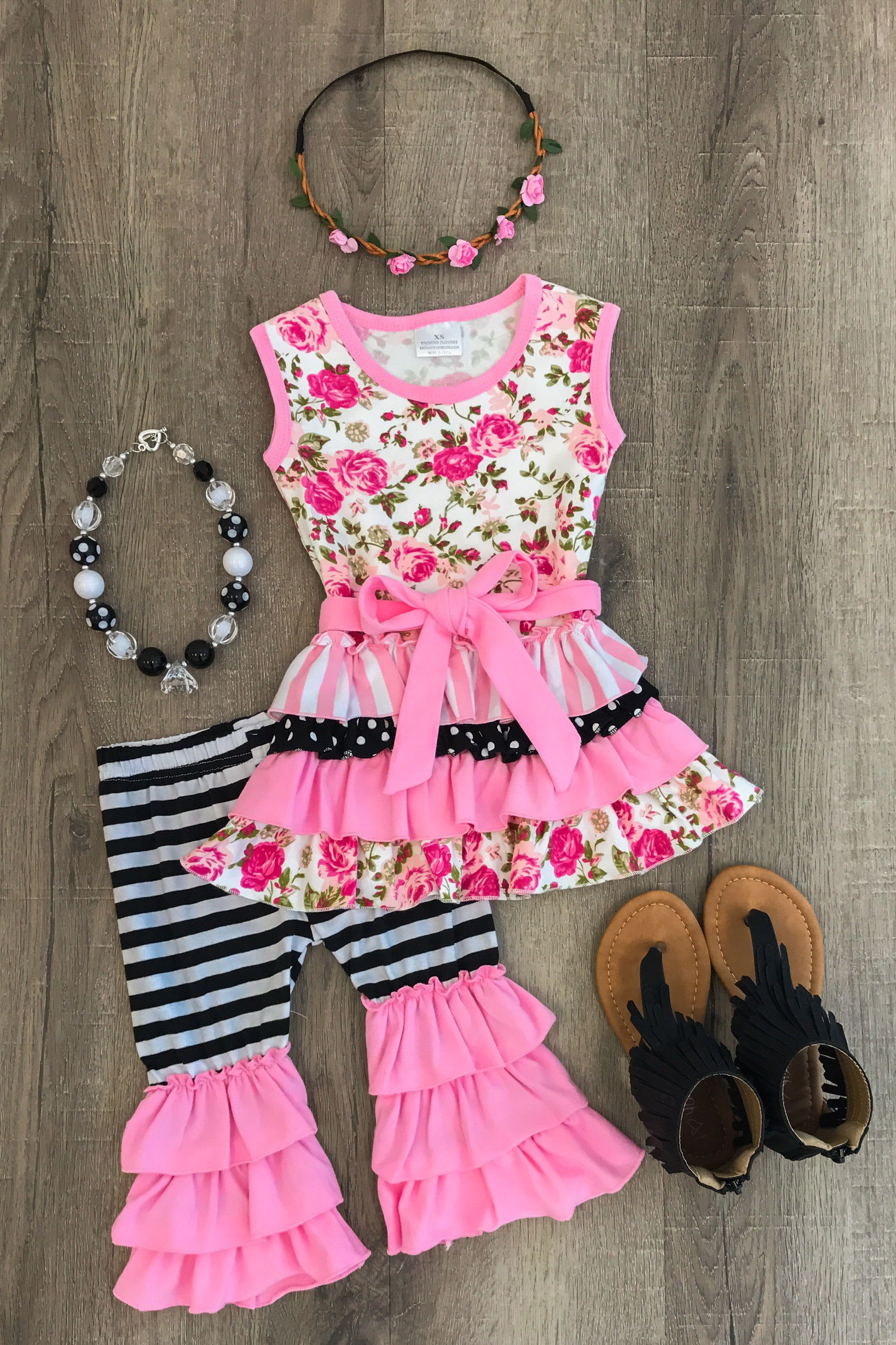 The Pink Riley Ruffle Boutique Outfit Boutique Outfits
