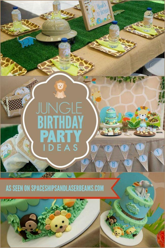A Little Boys First Jungle Safari Birthday Party DIY Ideas