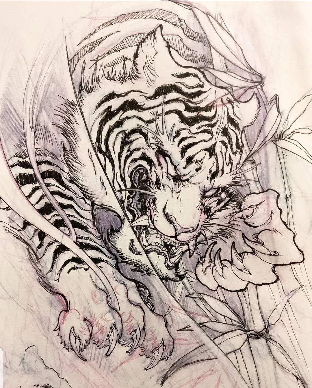 Pin By Triyanto Leksmana On Tatuaggio Giapponese In 2020 Tiger Tattoo Design Tattoo Design Drawings Tiger Tattoo