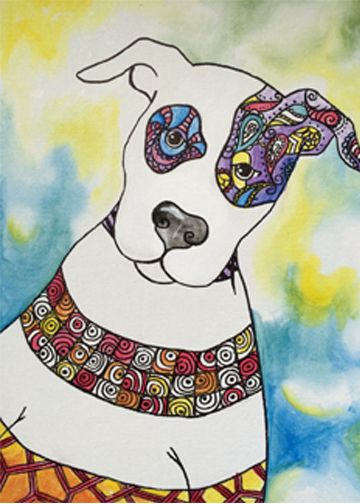 """""""Doodle Pup"""" Paint the perfect party at www.GalleryOnTheGo.com!  #GOTGFun #ArtOfSocializing"""