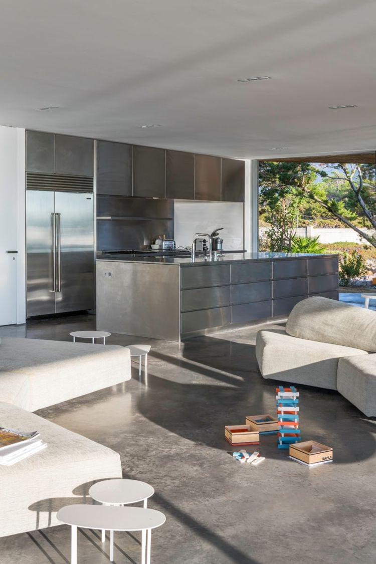 Möbel Idee für die Küche - Schränke aus Stahl | Minimalistische ...