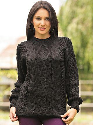 Sweater tejido a mano | blusa crochet con motivos de piñas ...
