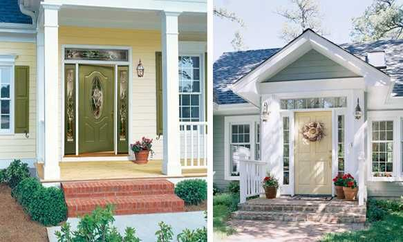 Exterior wood door decorating with paint to personalize - Feng shui exterior house paint colors ...
