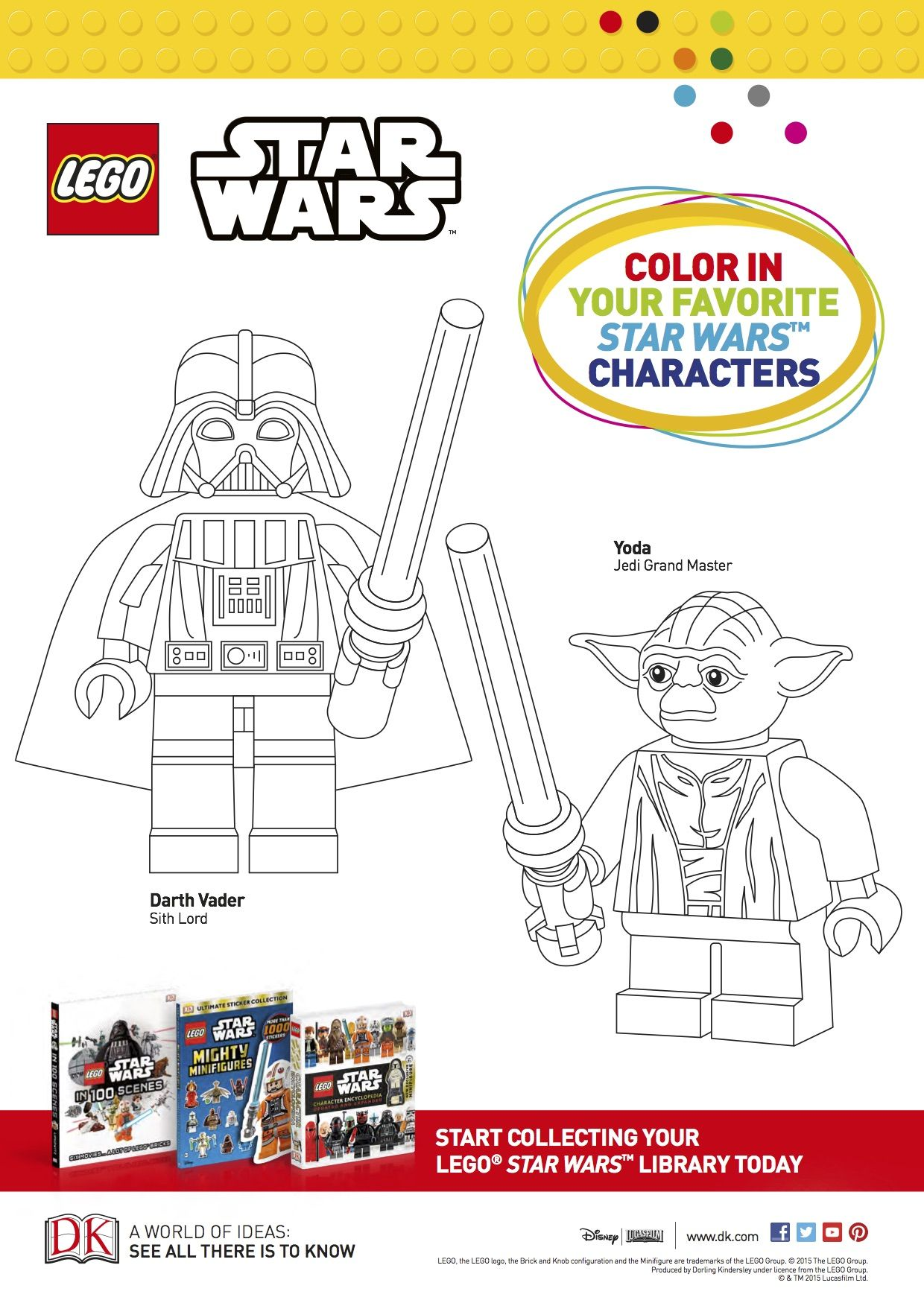 Lego Star Wars Coloring Sheet