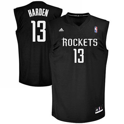 adidas James Harden Houston Rockets Replica Jersey - Black