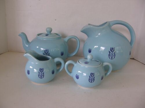 VINTAGE 1940's CRONIN POTTERY BALL JUG PITCHER-TEA POT-CREAMER & SUGAR W/LID  | eBay #teapotset