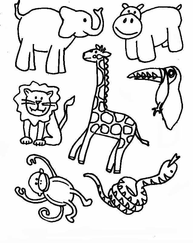 Tropical Rainforest Coloring Pages 980 | Free Printable Coloring ...