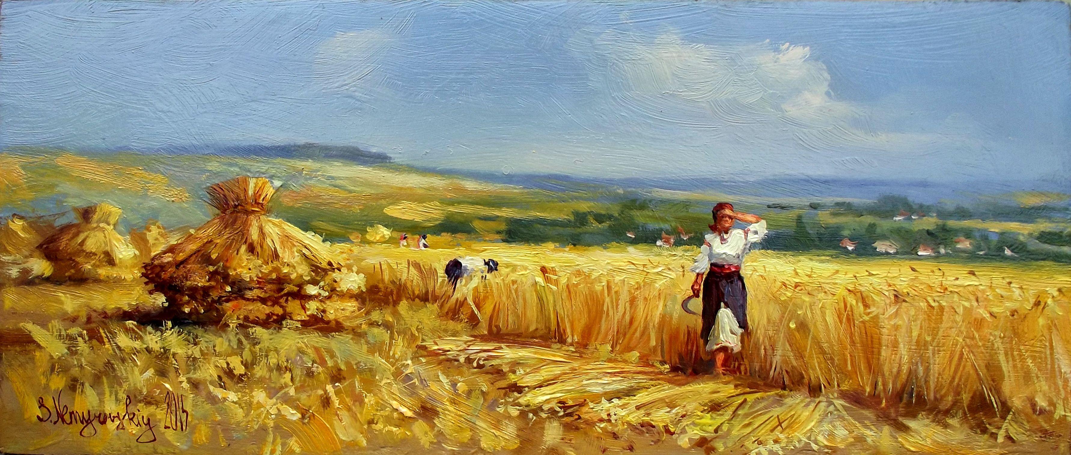 Картинке сборе урожая хлеба
