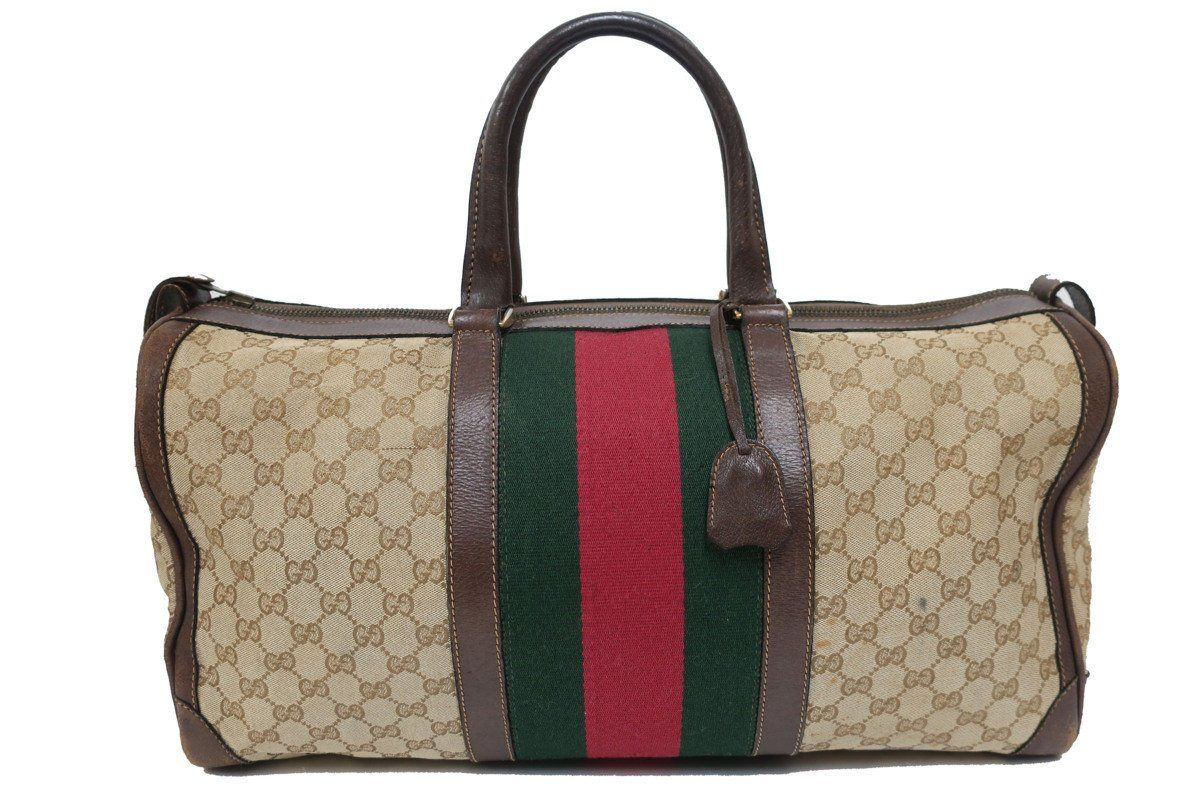 193732479ea Vintage Gucci GG monogram satchel boston duffle bag in 2019 ...