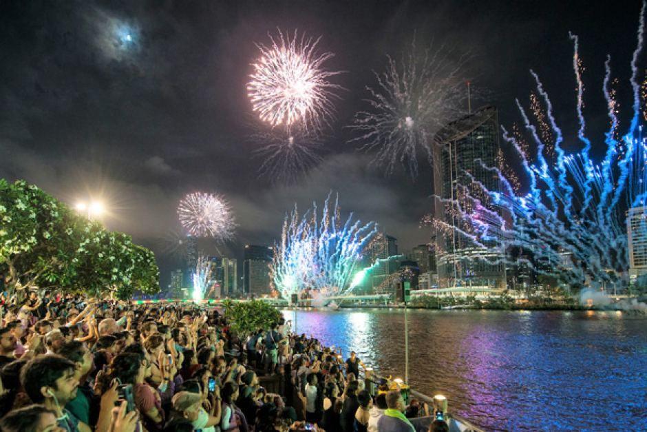 New Years Eve 2013 2014 Fireworks Brisbane, Australia