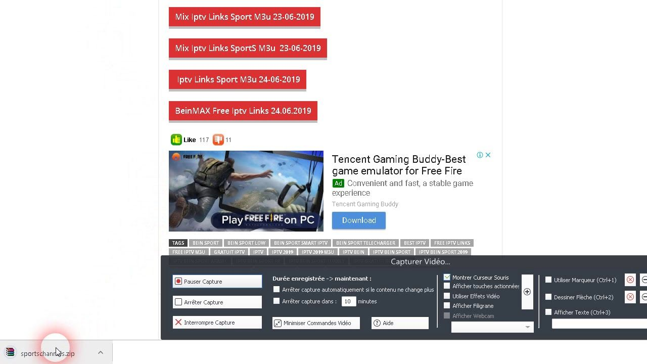 How To Download free iptv from www flylinks net (With