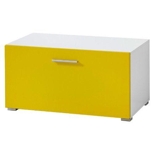 http://ift.tt/1NZBskB Wohnzimmer TV Unterschrank matt gelb  weiß Wohnwand Schrank Fernsehschrank #lilolp$#