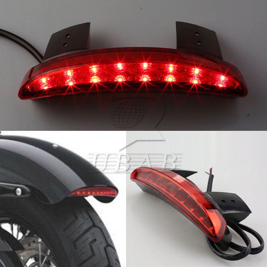 Smoke Lens Chopped Fender Edge LED Tail Light Harley Davidson XL883 1200 Iron