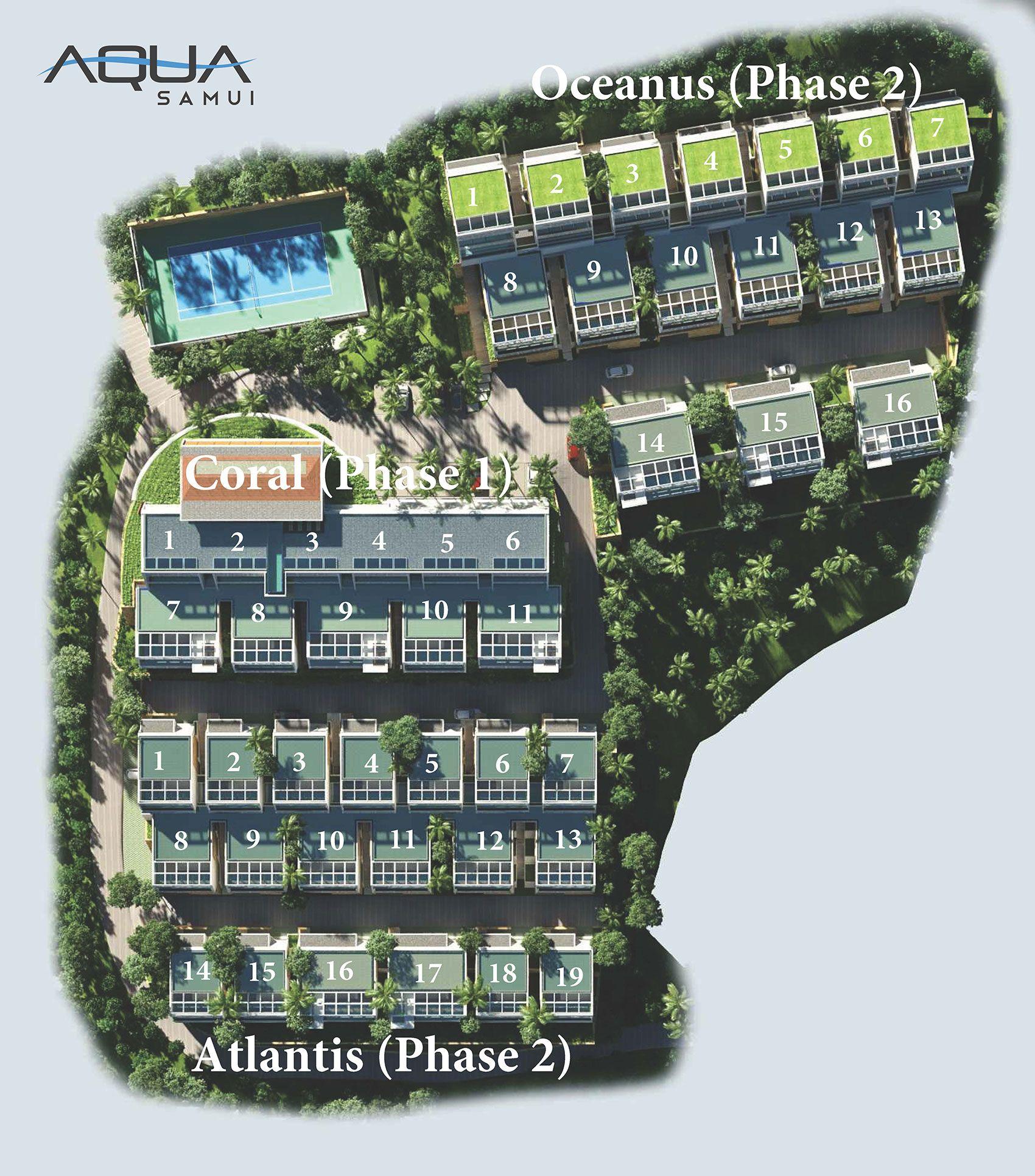 Aqua Samui Is An Ultra Modern Luxury Villa Development By Luxury Living A Leading Real Estate Developer Located On The Island Of Koh Yesil Mimari Mimari Yesil