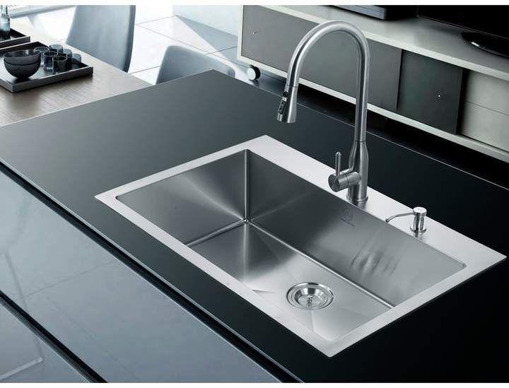 Dcor Design 33 X 22 Single Drop In Kitchen Sink Drop In Kitchen Sink Single Bowl Kitchen Sink Modern Kitchen Sinks 33 x 22 kitchen sink single bowl