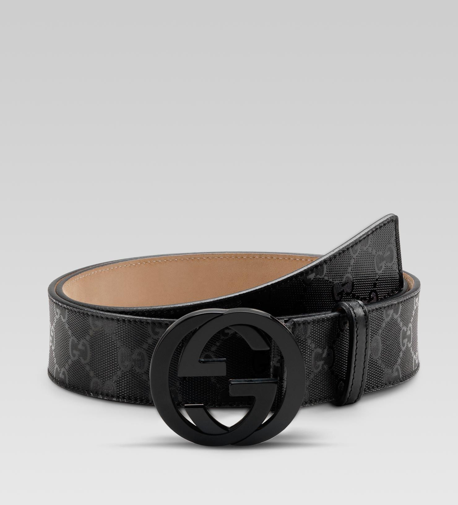 63e01ec50f4 Gucci interlocking g belt black imprime