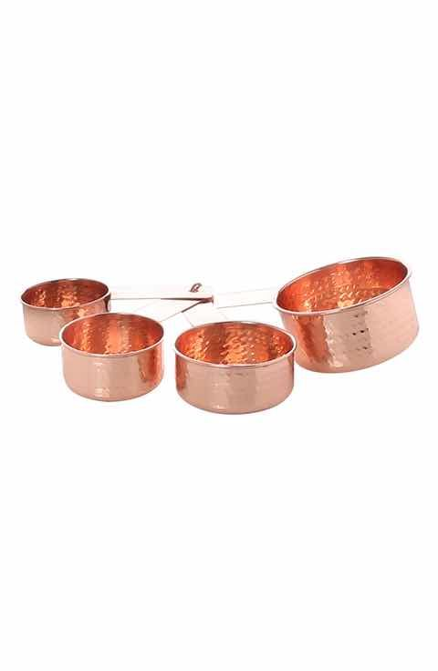 Thirstystone Set of 4 Hammered Copper Finish Measuring Cups