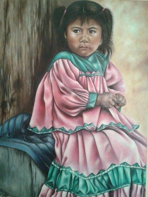 """Soñadora"" óleo,  autor: Maria Noemi"