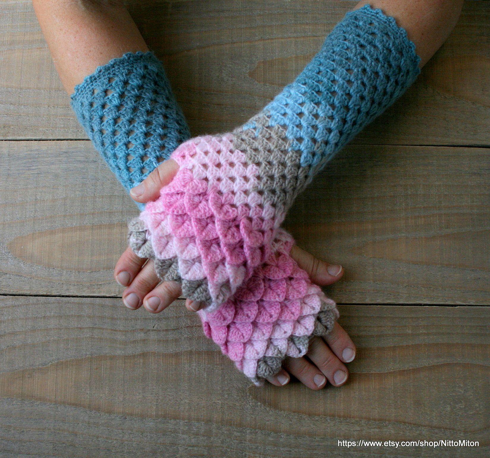 Fingerless Gloves Handmade Wrist Warmers Arm Warmers Mitts Ladies fingerless gloves lacy long mittens womens fingerless Dragons gloves