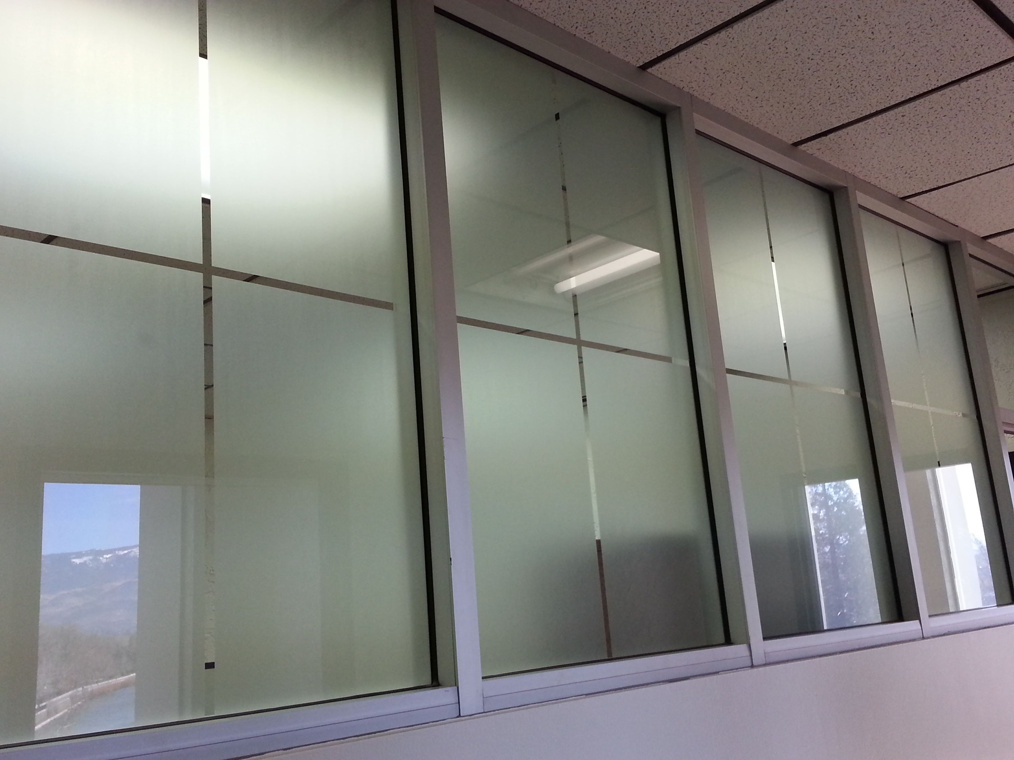 Some Decorative Frost Film Designs For Commercial Offices