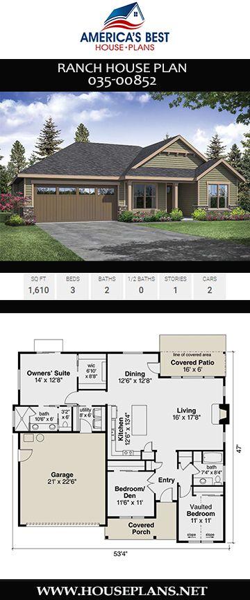 Ranch House Plan 035-00852