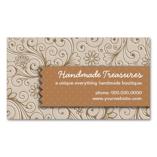 Crafters Floral Handmade Business Card Templates Handmade