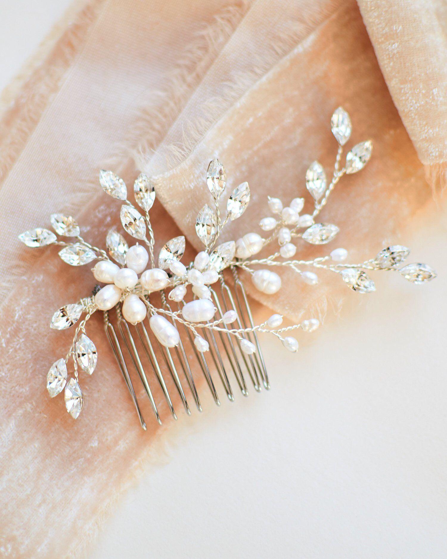 Freshwater Pearl Bridal Hair Comb Wedding Hair Comb Bridal Etsy In 2020 Silver Bridal Hair Comb Bridal Hair Combs Pearl Bridal Comb