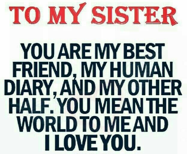 To My Sisteryou Are My Best Friend My Human Diary And My Other