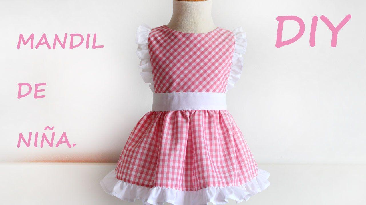 Como hacer un mandil para niña. Costura fácil. | vestidos princesas ...