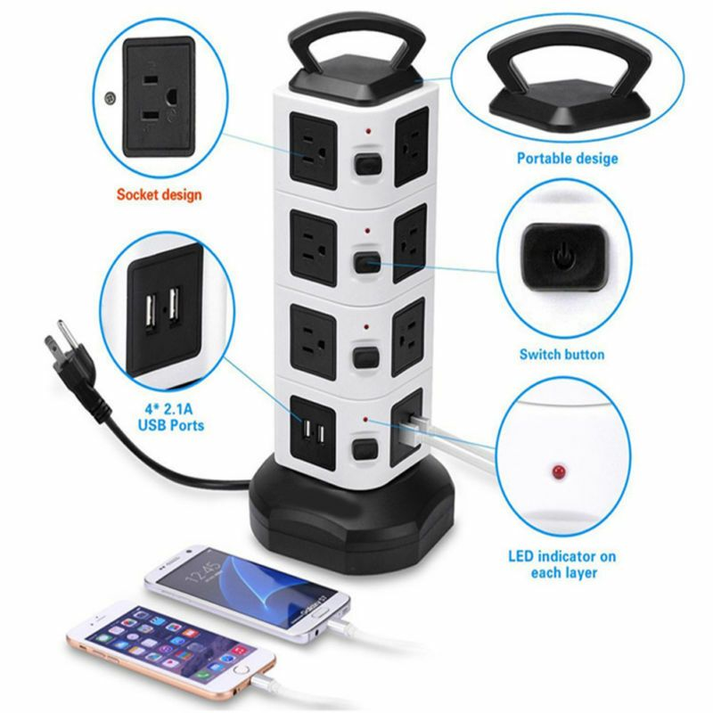 Ebay Sponsored Power Strip Tower Best Choice Surge Protector Electric Charging Sta In 2019 Electric Charging Stations Power Strip Electric Station