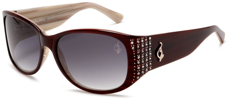 baby phat Womens 2053 Round Sunglasses,Burgundy Frame/Black Lens,one ...