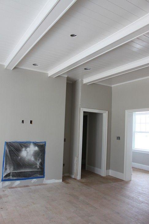 My Pinterest Inspired Home Home Ceiling Beams Living Room