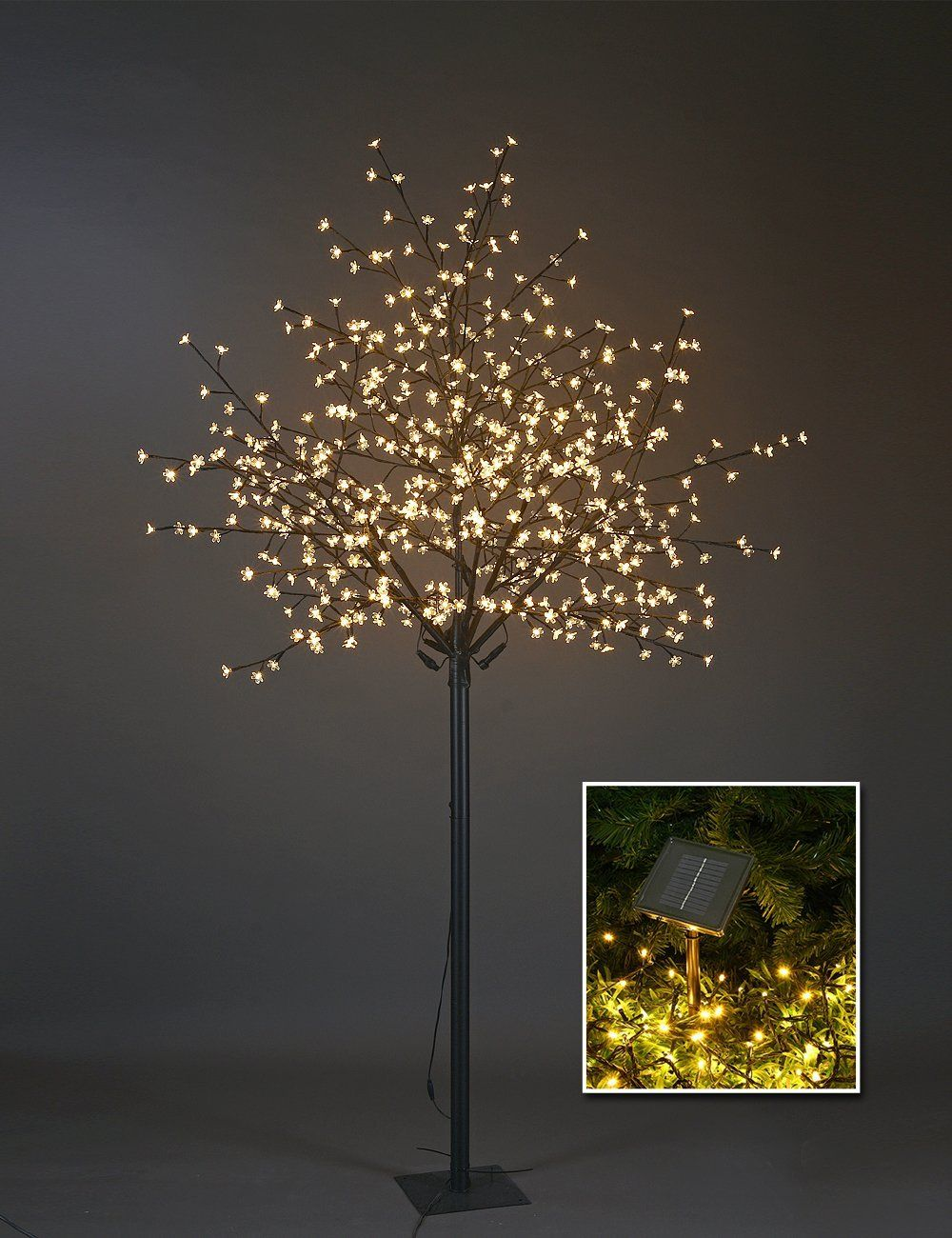 Lightshare Update 8ft 600l Led Cherry Blossom City Tree Plus A Free Gift 70l Led Solar Decoration Light For Home Decor City Decor City Tree Cherry Blossom Tree