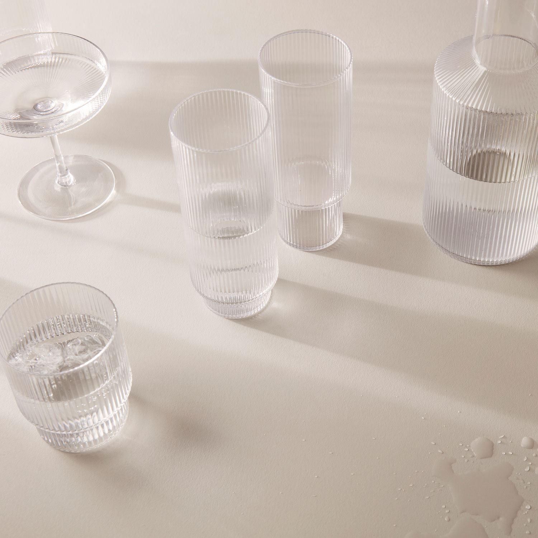 Ripple Long Drink Glasses 4 Pack Ferm Living Royaldesign In 2020 Glass Set Glasses Drinking Drink Glasses Set